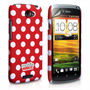 Mobile Madhouse HTC One S Red Polka Dot Case