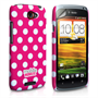 Mobile Madhouse HTC One S Hot Pink Polka Dot Case