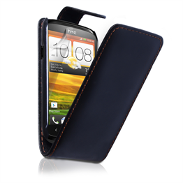 Yousave Accessories HTC Desire X Black PU Leather Flip