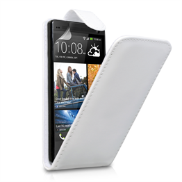 Yousave Accessories HTC One Leather-Effect Flip Case - White