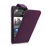 Yousave Accessories HTC One Leather-Effect Flip Case - Purple