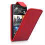 Yousave Accessories HTC One Leather-Effect Flip Case - Red