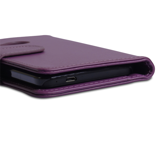 Yousave Accessories HTC One Leather-Effect Wallet Case - Purple