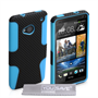 Yousave Accessories HTC One M7 Max Mesh Combo Blue Case
