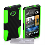 Yousave Accessories HTC One Mesh Combo Green Case