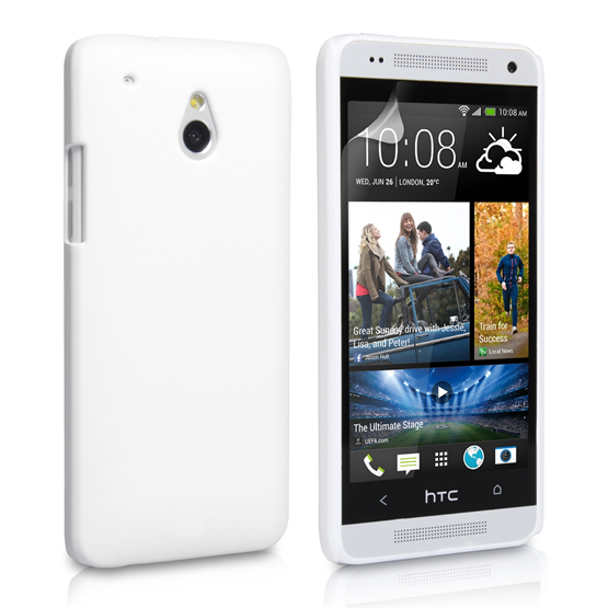 Yousave Accessories HTC One Mini Hard Hybrid Case - White