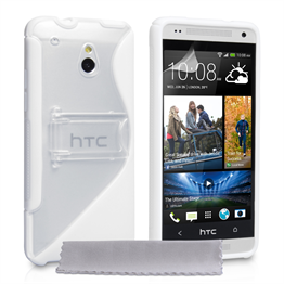 Yousave Accessories HTC One M7 Mini Pu Stand White Case