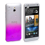 Yousave Accessories HTC One Mini Raindrop Hard Case - Purple-Clear