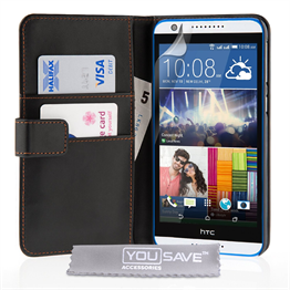 Yousave Accessories HTC One M7 Max PU Flip Black Case