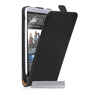 Yousave Accessories HTC One M7 Max Real Leather Flip Black Case