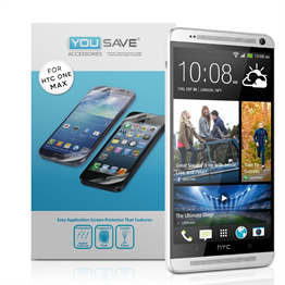 Yousave Accessories HTC One M7 Max Screen Protectors X 3 Clear