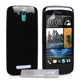 Yousave Accessories HTC Desire 500 Gel Black Case