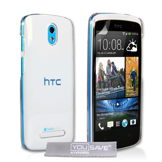 Yousave Accessories HTC Desire 500 Crystal Clear Case
