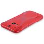 Yousave Accessories HTC One M8 Silicone Gel X-Line Case - Red
