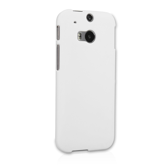 Yousave Accessories HTC One M8 Hard Hybrid Case - White
