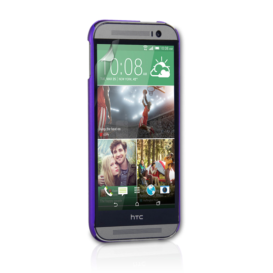 Yousave Accessories HTC One M8 Hard Hybrid Case - Purple
