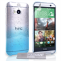 Yousave Accessories HTC One M8 Raindrop Hard Case - Blue-Clear