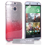 Yousave Accessories HTC One M8 Raindrop Hard Case - Red-Clear