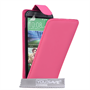 Yousave Accessories HTC One M8 Leather-Effect Flip Case - Hot Pink