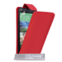 Yousave Accessories HTC One M8 Leather-Effect Flip Case - Red