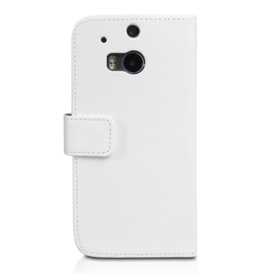 Yousave Accessories HTC One M8 Leather-Effect Wallet Case - White