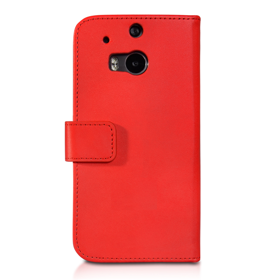 Yousave Accessories HTC One M8 Leather-Effect Wallet Case - Red