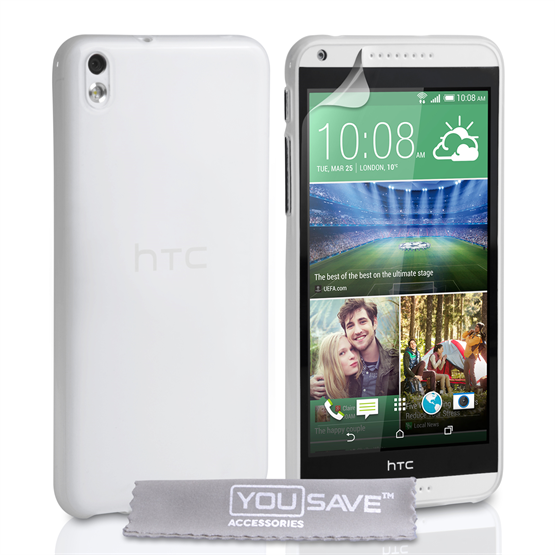 Yousave Accessories HTC Desire 816 Silicone Gel Case - Clear