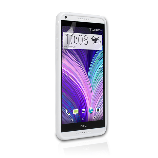 Yousave Accessories HTC Desire 816 Silicone Gel X-Line Case - White
