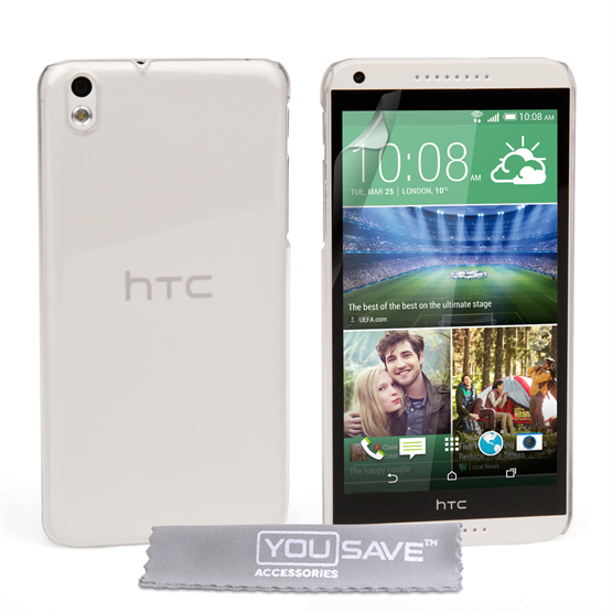 Yousave Accessories HTC Desire 816 Hard Case - Crystal Clear