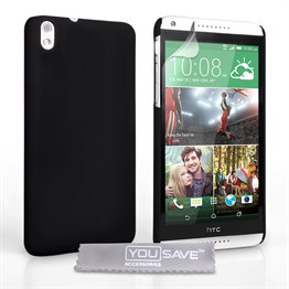 Yousave Accessories HTC Desire 816 Hard Hybrid Case - Black
