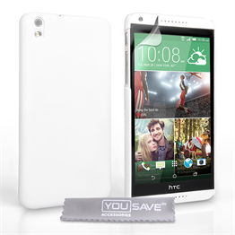 Yousave Accessories HTC Desire 816 Hard Hybrid Case - White