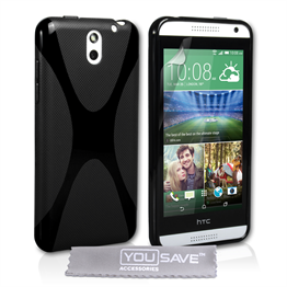 Yousave Accessories HTC Desire 610 Silicone Gel X-Line Case - Black
