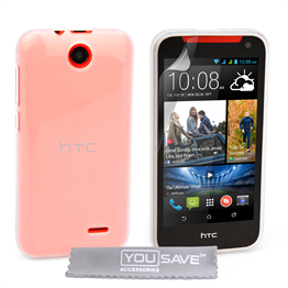 Yousave Accessories HTC Desire 310 Silicone Gel Case - Clear