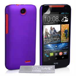 Yousave Accessories HTC Desire 310 Hard Hybrid Case - Purple