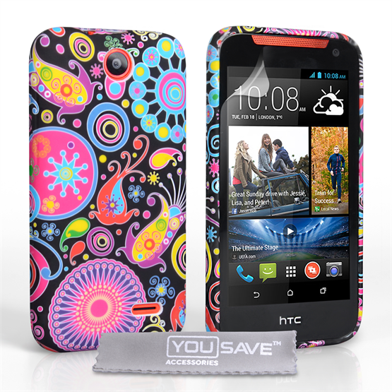 Yousave Accessories HTC Desire 310 Jellyfish Silicone Gel Case