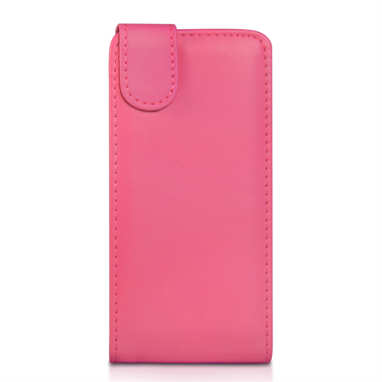 Yousave Accessories HTC One Mini 2 Leather-Effect Flip Case - Hot Pink