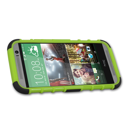 Yousave Accessories HTC One M8 Stand Combo Green Case
