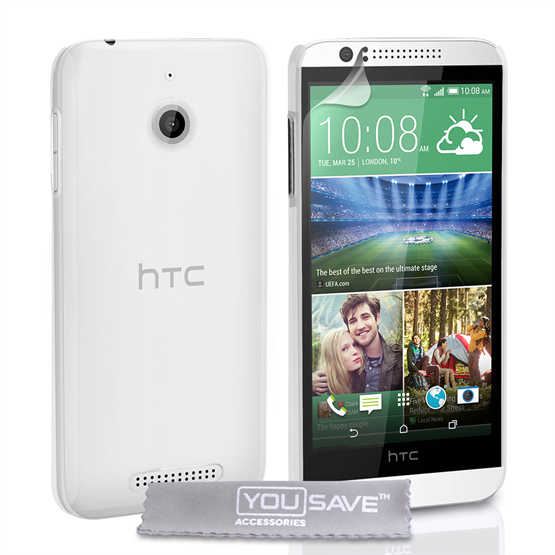 Yousave Accessories HTC Desire 510 Hard Case - Crystal Clear