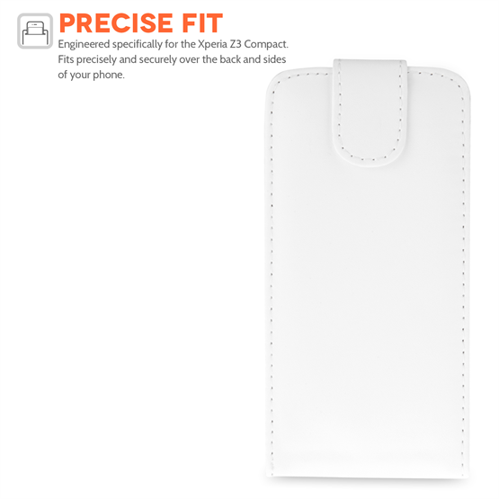 Yousave Accessories HTC Desire 510 Leather-Effect Flip Case - White