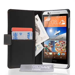 Yousave Accessories HTC Desire 510 Black PU Wallet