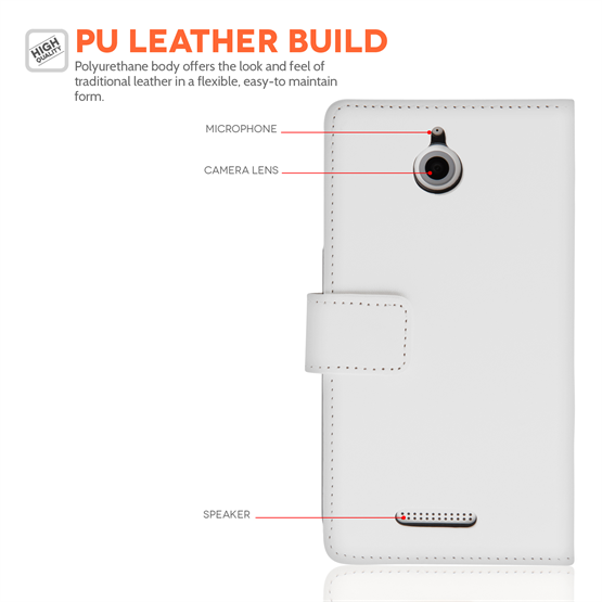 Yousave Accessories HTC Desire 510 White PU Wallet
