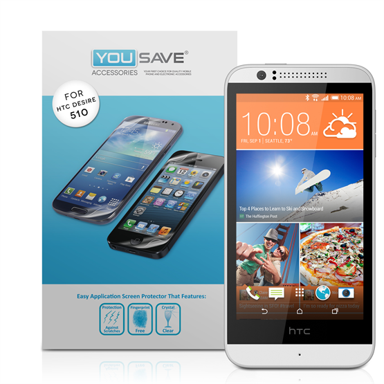 Yousave Accessories HTC Desire 510 Screen Protector ( 3 Pack ) Clear