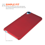 Yousave Accessories HTC Desire 820 Hard Hybrid Case - Red