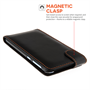 Yousave Accessories HTC Desire 820 Leather-Effect Flip Case - Black