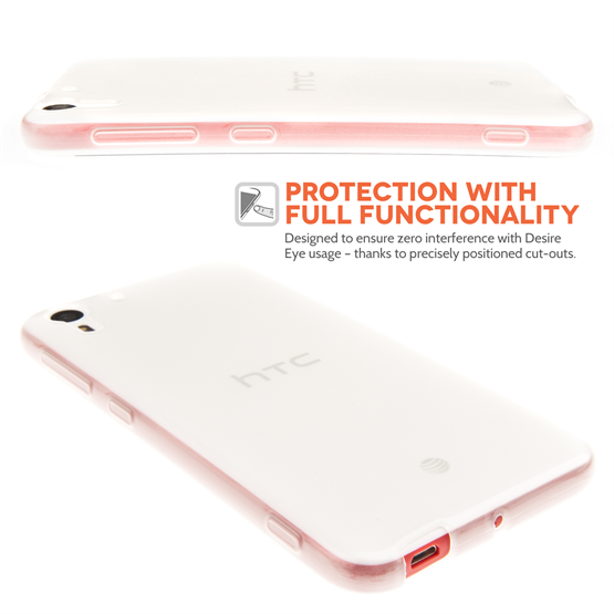 Yousave Accessories HTC Desire Eye Real Silicone Gel Case - Clear