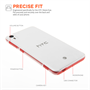 Yousave Accessories HTC Desire Eye Real Hard Case - Crystal Clear