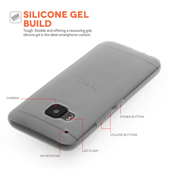 Yousave Accessories HTC ONE M9 Silicone Gel Case - Clear