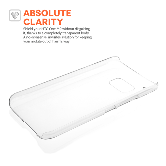 Yousave Accessories HTC ONE M9 Hard Case - Crystal Clear