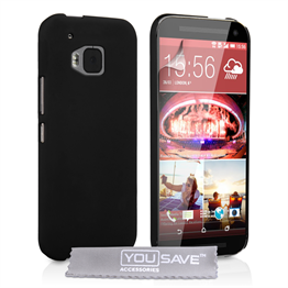 Yousave Accessories HTC ONE M9 Hard Hybrid Case - Black