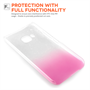 Yousave Accessories HTC ONE M9 Raindrop Hard Case - Baby Pink-Clear